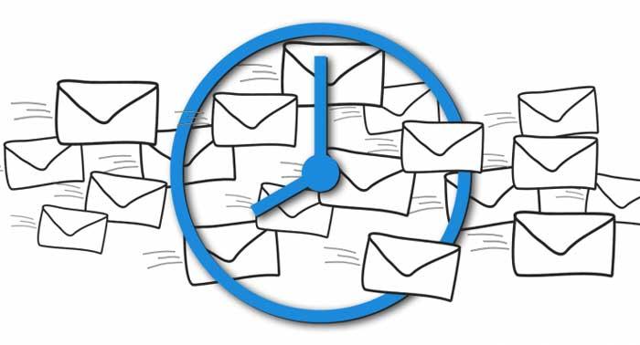 برنامه زمانی ارسال ایمیل
