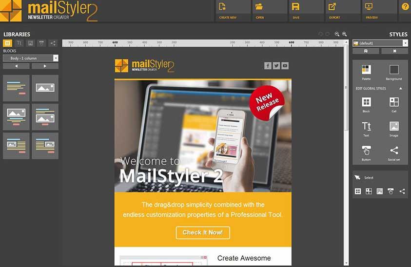 نحوه کار با ابزار Mailstyler 2